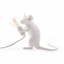 Mouse Lamp mac sitting Bordslampa, vit
