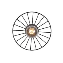 Wheel mini plafond/vägglampa svart
